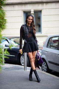 Joan Smalls, Milan Fashion Week Spring 2014 | NYMag.com Street Style