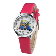 2018 Vzor roztomilý karikatura Dětské hodinky Hot kreslený kožený řemínek  Módní děti Křemenný náramkové hodinky Chlapci Dívky Studentské hodiny 84c53201c08
