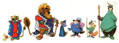 An early version of the characters from Robin Hood, courtesy of animation giant Andreas Deja.