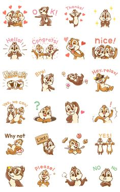 ultra-popular chipmunk duo is back with another set of stickers! From their cherubic expressions to their gentle manner, this set is sure to make your heart melt. Go nuts in your chats with these animated stickers! Cute Disney Wallpaper, Cute Wallpaper Backgrounds, Cute Wallpapers, Cute Disney Drawings, Cute Drawings, Bisous Gif, Disney Doodles, Chip And Dale, Character Design Animation