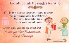 Happy Ramadan Mubarak Wishes Messages for Your Sweet Wife on Wish You Happy Eid-ul-Fitra 2016. #Ramadan2016 #RamadhanKareem #EidMubarak #HappyEid