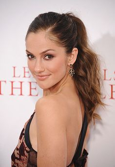 The 10 Chicest Ponytails for Fall 2013  -  Minka Kelly: Beachy and High