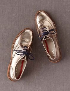 Metallic gold shoes