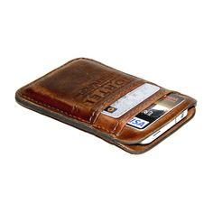 iPhone / iPod Touch - - RETROMODERN aged leather pocket - - LIGHT BROWN. $99.00, via Etsy.