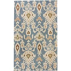 @Overstock - This rug is hand-woven in a bold and chunky looped weave. This vibrant rug evokes the ancient styles of central Asian Ikat and Suzani fabrics.http://www.overstock.com/Home-Garden/Handmade-Alexa-Ikat-Wool-Rug-76-x-96/6237678/product.html?CID=214117 $338.99