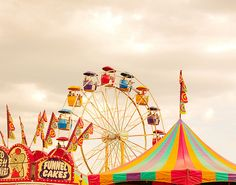 The County fair came every year, it was a most festive affair for us country folk. Vintage Carnival, Vintage Circus, Becky Albertalli, Amusement Park Rides, Carnival Rides, Country Fair, Fun Fair, Summer Fun, Summer Picnic