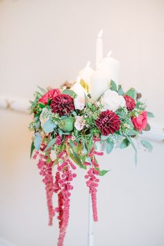 Elegant Pink & Greenery Arrangement