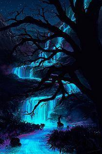 .Pandora Night Bioluminescence fan art