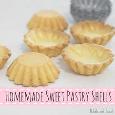 Bubble and Sweet: Homemade sweet pastry shell recipe ingredient desserts pie crusts) Pastry Recipes, Tart Recipes, Sweet Recipes, Dessert Recipes, Sweet Pie, Sweet Tarts, Mini Tart Shells, 4 Ingredient Recipes, Pastry Shells