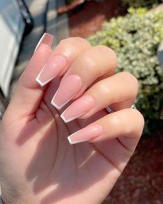 Acrylic Nails Coffin Short, Simple Acrylic Nails, Square Acrylic Nails, Pink Acrylic Nails, Coffin Shape Nails, Simple Nails, Pink Acrylics, Pink Nails, Pink Acrylic Nail Designs