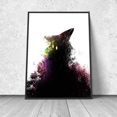 Final Fantasy Black Mage watercolor illustration giclee by RNDMS Final Fantasy, Nerd Decor, Black Mage, Types Of Art Styles, Watercolor Illustration, Pixel Art, Game Art, Cool Art, Art Prints