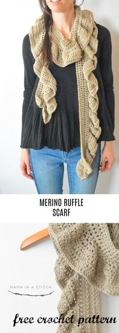 A unique and beautiful crocheted scarf that's simple enough for beginners! Free pattern available. #crafts #diy