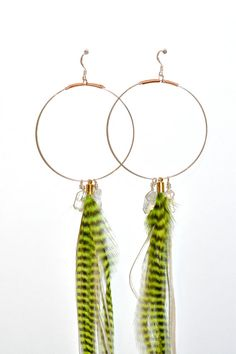 Bolivia Crystal Handmade Hoop Earrings // White & by SKULLPTRESS, $50.00