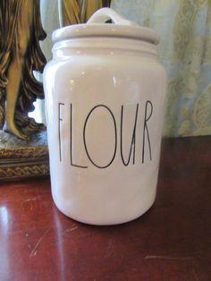 Rae Dunn Flour Canister Ceramic New Farmhouse Chic