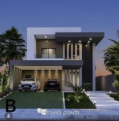 2 Storey House Design, Bungalow House Design, House Front Design, Small House Design, Best Modern House Design, Modern Villa Design, Modern Exterior House Designs, Exterior Design, Modern House Facades
