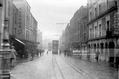Wexford Street in Dublin, circa (Part of the Independent Newspapers Ireland/NLI Collection). Ireland Pictures, Old Pictures, Old Photos, Gone Days, Dublin Street, Ireland Homes, Photo Engraving, Dublin Ireland