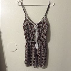 European Romper I bought this is Spain. It's absolutely adorable with heals, flats, or boots. It just does quite fit me right so I've never warn it. NOT Brandy Melville. Just very similar pattern. I negotiate through the  Offer Function  Brandy Melville Dresses