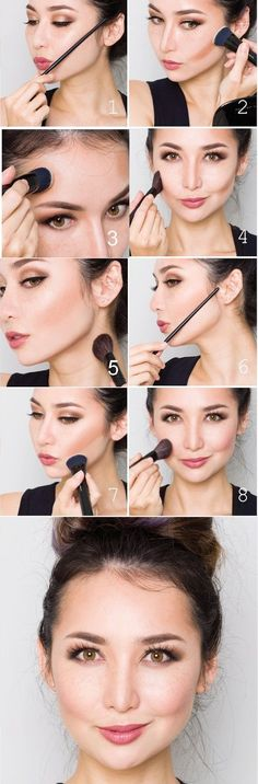makeup tips, learn how to apply make-up and create make-up for parties, makeup . Contour Makeup, Skin Makeup, Body Makeup, How To Make Hair, Eye Make Up, Beauty Make-up, Beauty Hacks, Make Up Tricks, Hair Images