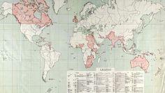 British Empire World Map 1915