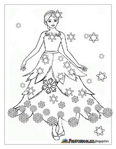 Barvení Zana ZIMA - WINTER víla Snímky | Pracovní listy - mateřská Barbie Coloring Pages, Princess Coloring Pages, Colouring Pages, Adult Coloring Pages, Coloring Books, Winter Princess, Winter Activities For Kids, Russian Folk Art, Human Drawing