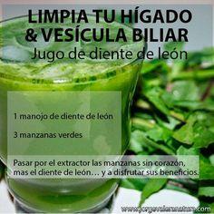 Para limpiar el higado /Clean the Liver gallbladder 1- garlic clove and 3 green apples
