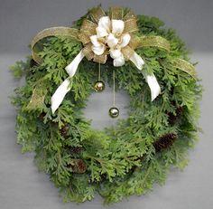 Artificial Cedar Holiday Wreath