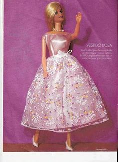 Clothes for Barbie with patterns