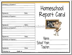 Report cards - seriously my new very favoritre homeschool blog - TONS and TONS of DARLING freebies.  This woman is crazy good.