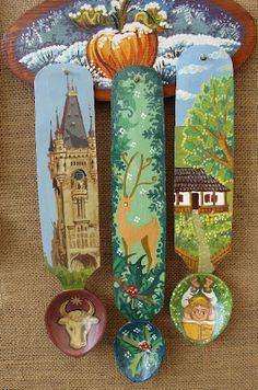creativitatea in viata ta: Linguri de lemn pictate
