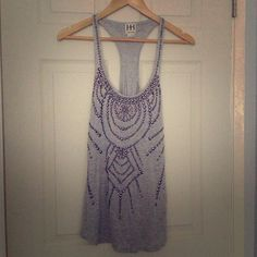 LOWERED!!! Haute Hippie studded racerback tank Size medium. New with tags. Never worn. Bought this for $440. Haute Hippie Tops Tank Tops