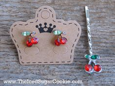 Cherry Earrings With Free Cherry Hair Pin