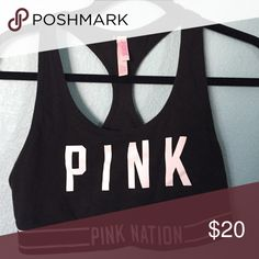 PINK Victoria's Secret sports bra {never worn} Pink Victoria's Secret sports bra (no padding) and in perfect condition, OPEN TO OFFERS! And i have a deal on bundles!! (CHEAPER ON MERCARI!) PINK Victoria's Secret Intimates & Sleepwear Bras
