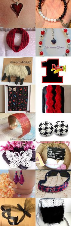 Black, White and Red by Maria Miller on Etsy--Pinned+with+TreasuryPin.com