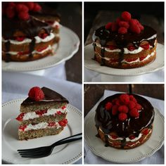 torta nocciole e semi di papavero Collage