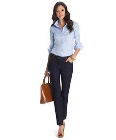 Non-Iron Tailored-Fit Dress ShirtBlue