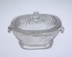 Minature tureen with lid Boston and Sandwich Glass Co. Date: 1835–1845