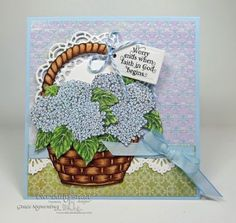 Stamps - Our Daily Bread Designs:Hydrangea, Basket of Blessings, God Quotes, ODBD Custom Recipe Card and Tags Dies, ODBD Custom Beautiful Borders Dies,  ODBD Custom Doily Dies