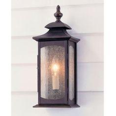 "Concord 1-Light Outdoor Sconce  |  Lighting  |  Ballard Designs  |  # LO055  |  129.00  |  14""h x 5.5""w x 4.25""d"