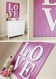Letters on beadboard.  Could do one letter above boys' beds.  Red/Navy