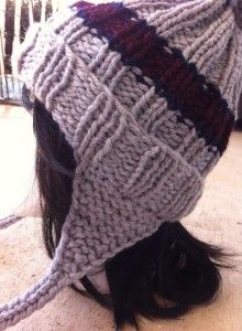 Great free pattern for loom knit ear flap adult hat!!