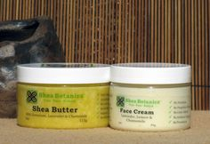 Face Cream 3oz (Lavender, Lemon, Chamomile) + Shea Butter 4oz, Shea Botanica