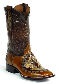 Hand-Tooled Leather Boots Style HT-172 Custom-Made by Black Jack Boots