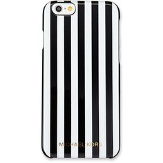 MICHAEL Michael Kors Preppy Stripe iPhone 6/6s Case ($53) ❤ liked on Polyvore featuring accessories, tech accessories and michael michael kors
