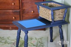 Upcycling a Vintage Telephone Table to a Lego Center