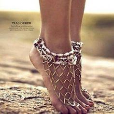 Epic foot bling.. shoeless bandit strikes again :p