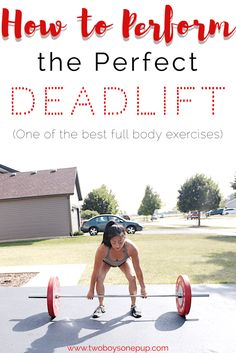(AD) How to perform the perfect deadlift, one of the best full body workouts. A step by step tutorial to make this lift simple for all ability levels. You'll also find how a better-for-you option to have on hand as a workout snack! Strength Workout, Strength Training, Easy Workouts, At Home Workouts, Workout Tips, Wellness Tips, Health And Wellness, Best Full Body Workout, Bodybuilding Training