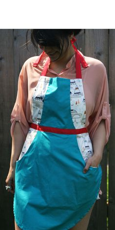 Retro Teepee print apron by wineNwhiskeyaprons on Etsy