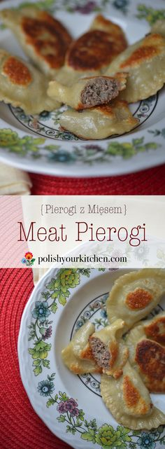 A simple to follow recipe for Polish meat pierogi , favorite Polish dish. Authentic recipe by Anna @polishyourkitchen.
