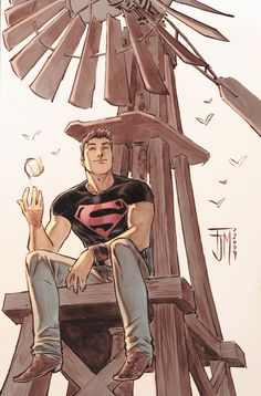 Superboy.  This really captures the mid-west farm boy innocence of Clark Kent.  Nicely done by Francis Manapu.