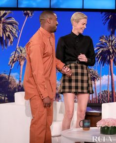 Charlize Theron Wore Christian Dior On The Ellen Show - Red Carpet Fashion Awards Minions Funny Images, Minions Quotes, Funny Minion, Funny Jokes, The Ellen Show, Comb Over, Charlize Theron, January 8, Red Carpet Fashion